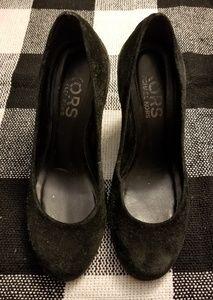Michael Kors black suede wedges